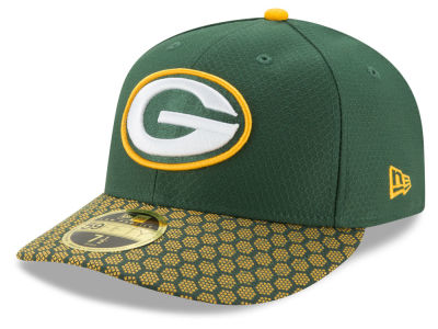Green Bay Packers New Era 2017 Official NFL Low Profile Sideline 59FIFTY Cap