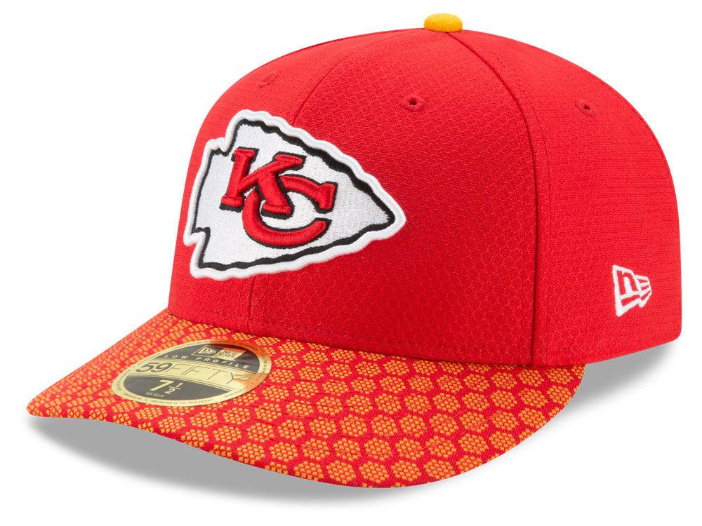 premium selection e8e58 6af8c Kansas City Chiefs New Era 2017 Official NFL Low Profile Sideline 59FIFTY  Cap   lids.com