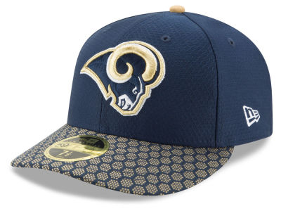 Los Angeles Rams New Era 2017 Official NFL Low Profile Sideline 59FIFTY Cap