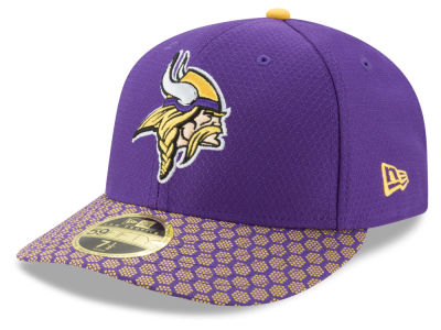 Minnesota Vikings New Era 2017 Official NFL Low Profile Sideline 59FIFTY Cap