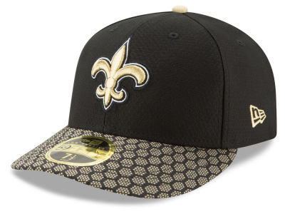 New Orleans Saints New Era 2017 Official NFL Low Profile Sideline 59FIFTY Cap