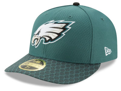 Philadelphia Eagles New Era 2017 Official NFL Low Profile Sideline 59FIFTY Cap