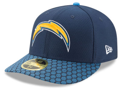 Los Angeles Chargers New Era 2017 Official NFL Low Profile Sideline 59FIFTY Cap