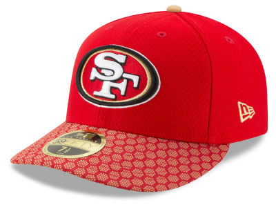 San Francisco 49ers New Era 2017 Official NFL Low Profile Sideline 59FIFTY Cap