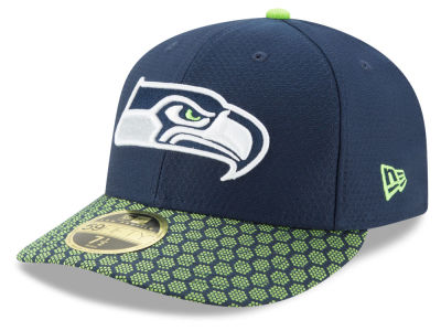 Seattle Seahawks New Era 2017 Official NFL Low Profile Sideline 59FIFTY Cap