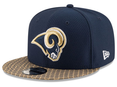 Los Angeles Rams New Era 2017 Official NFL Sideline 9FIFTY Snapback Cap