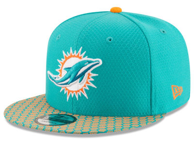 Miami Dolphins New Era 2017 NFL Official Sideline 9FIFTY Snapback Cap