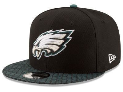 Philadelphia Eagles New Era 2017 NFL Official Sideline 9FIFTY Snapback Cap