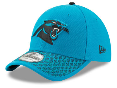 cba4a5f8554 Carolina Panthers New Era 2017 Official NFL Sideline 39THIRTY Cap