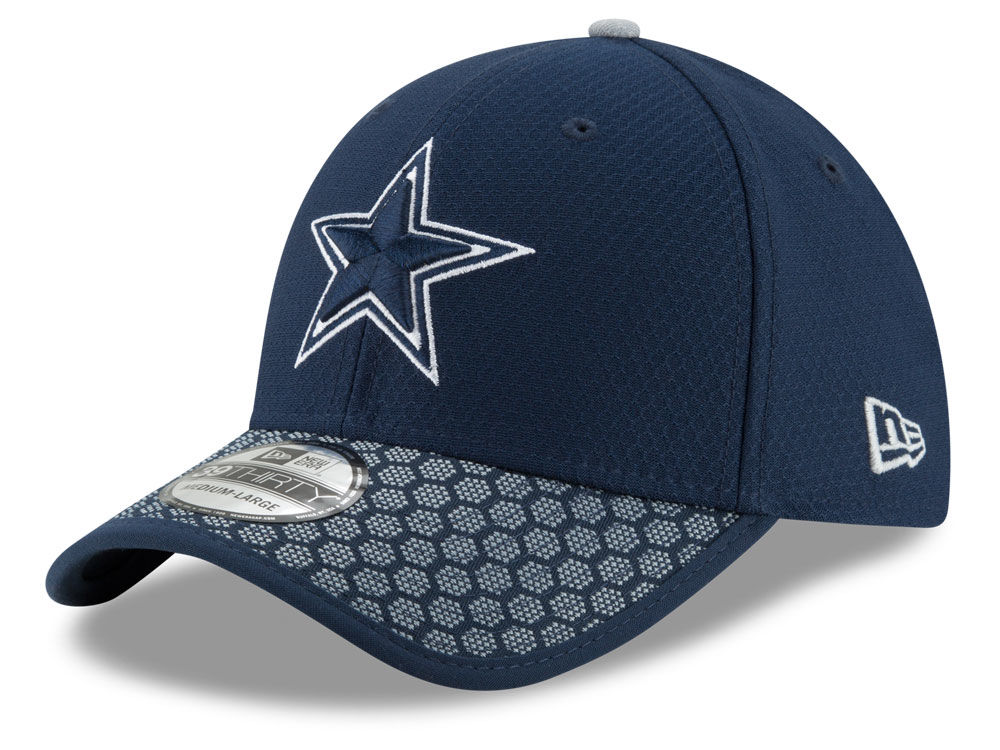 20c4335e3 Dallas Cowboys New Era 2017 Official NFL Sideline 39THIRTY Cap ...