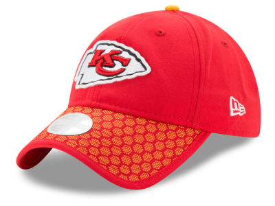 Kansas City Chiefs New Era 2017 Official NFL Women's Sideline 9TWENTY Cap