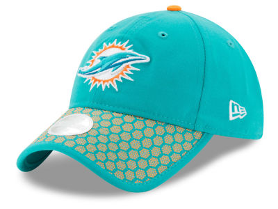 Miami Dolphins New Era 2017 Official NFL Women's Sideline 9TWENTY Cap