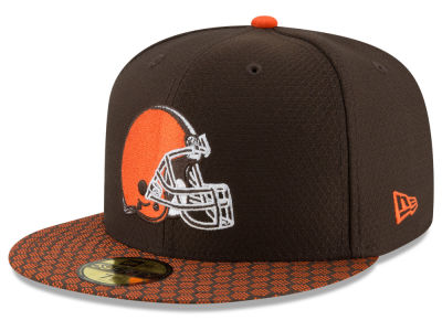Cleveland Browns New Era 2017 Kids Official NFL Sideline 59FIFTY Cap