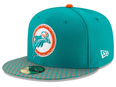 Miami Dolphins New Era 2017 Kids Official NFL Sideline 59FIFTY Cap
