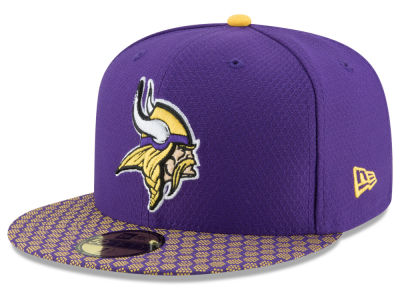 Minnesota Vikings New Era 2017 Kids Official NFL Sideline 59FIFTY Cap