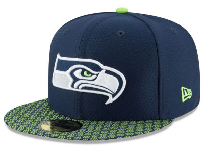 Seattle Seahawks New Era 2017 Kids Official NFL Sideline 59FIFTY Cap