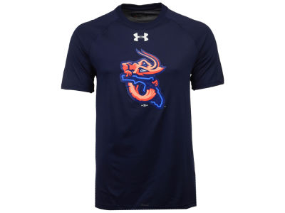 Jacksonville Jumbo Shrimp Under Armour MiLB Men's UA Logo Tech T-Shirt