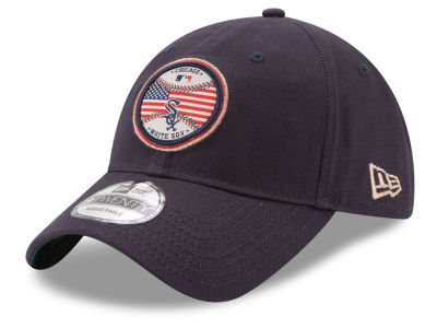 Chicago White Sox New Era MLB Americana Patch 9TWENTY Strapback Cap