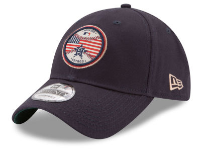 Houston Astros New Era MLB Americana Patch 9TWENTY Strapback Cap