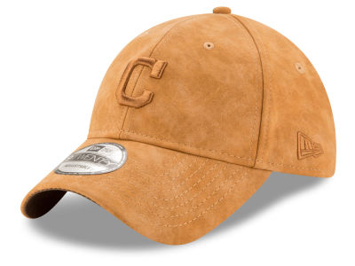 Cleveland Indians New Era MLB Pure Leather 9TWENTY Cap