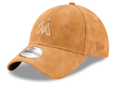 Miami Marlins New Era MLB Pure Leather 9TWENTY Cap