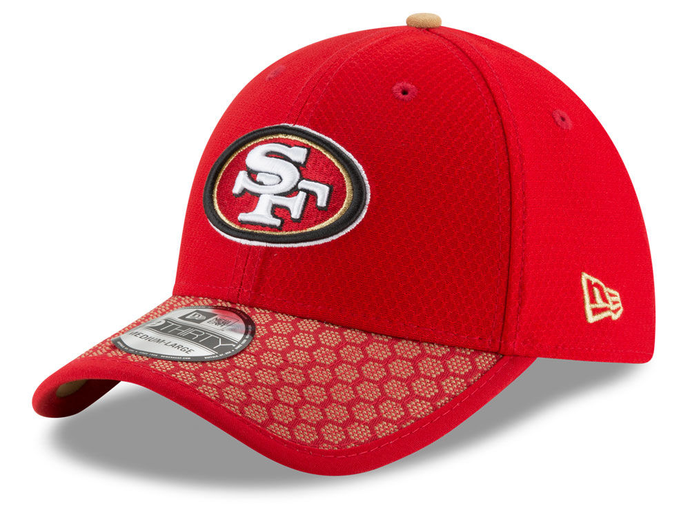 big sale fe069 eae05 San Francisco 49ers New Era 2017 Official NFL Kids Sideline 39THIRTY Cap    lids.com