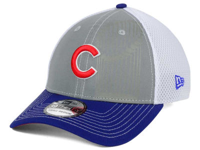 Chicago Cubs New Era MLB Reflective World Series Trophy 39THIRTY Cap