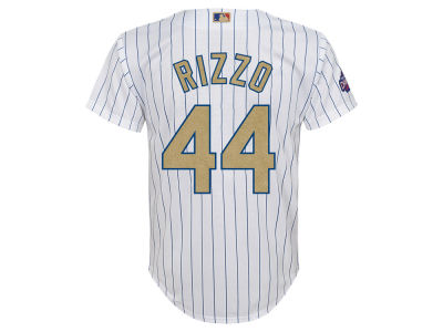 Chicago Cubs Anthony Rizzo  Majestic MLB Youth World Series Gold Player Replica CB Jersey