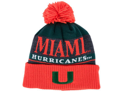 Miami Hurricanes adidas NCAA Big Word Pom Knit