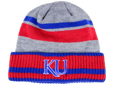 Kansas Jayhawks adidas NCAA Gray Dome 2 Cuff Knit