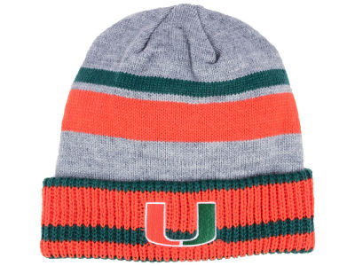 Miami Hurricanes adidas NCAA Gray Dome 2 Cuff Knit