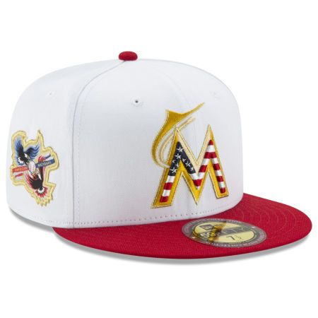 Miami Marlins New Era MLB Americana Ultimate Patch Collection 59FIFTY Cap