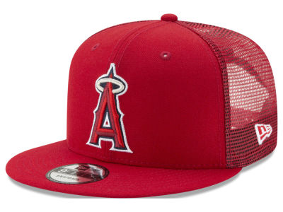 Los Angeles Angels New Era MLB On Field Mesh 9FIFTY Snapback Cap