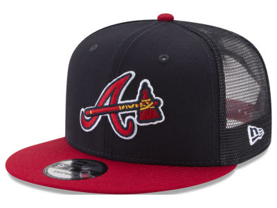Atlanta Braves New Era MLB On Field Mesh 9FIFTY Snapback Cap