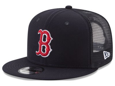 Boston Red Sox New Era MLB On Field Mesh 9FIFTY Snapback Cap