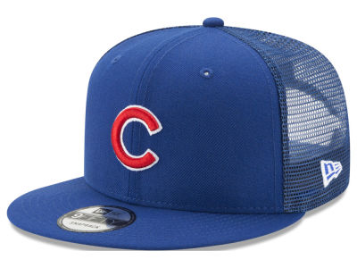 Chicago Cubs New Era MLB On Field Mesh 9FIFTY Snapback Cap