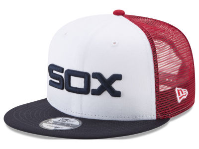 Chicago White Sox New Era MLB On Field Mesh 9FIFTY Snapback Cap