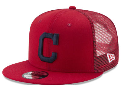 Cleveland Indians New Era MLB On Field Mesh 9FIFTY Snapback Cap