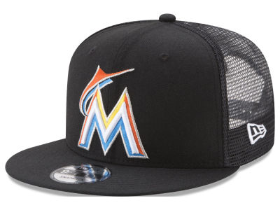 Miami Marlins New Era MLB On Field Mesh 9FIFTY Snapback Cap