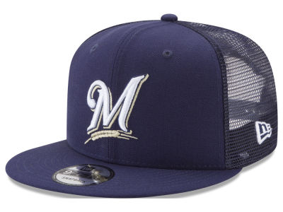 Milwaukee Brewers New Era MLB On Field Mesh 9FIFTY Snapback Cap