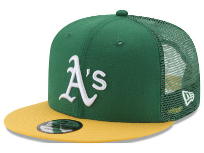 Oakland Athletics New Era MLB On Field Mesh 9FIFTY Snapback Cap