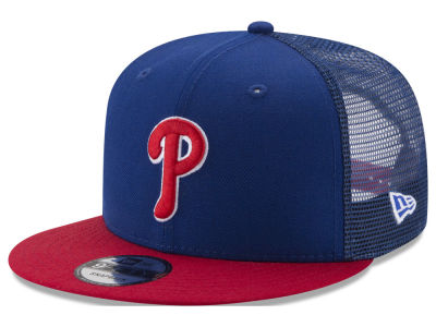 Philadelphia Phillies New Era MLB On Field Mesh 9FIFTY Snapback Cap