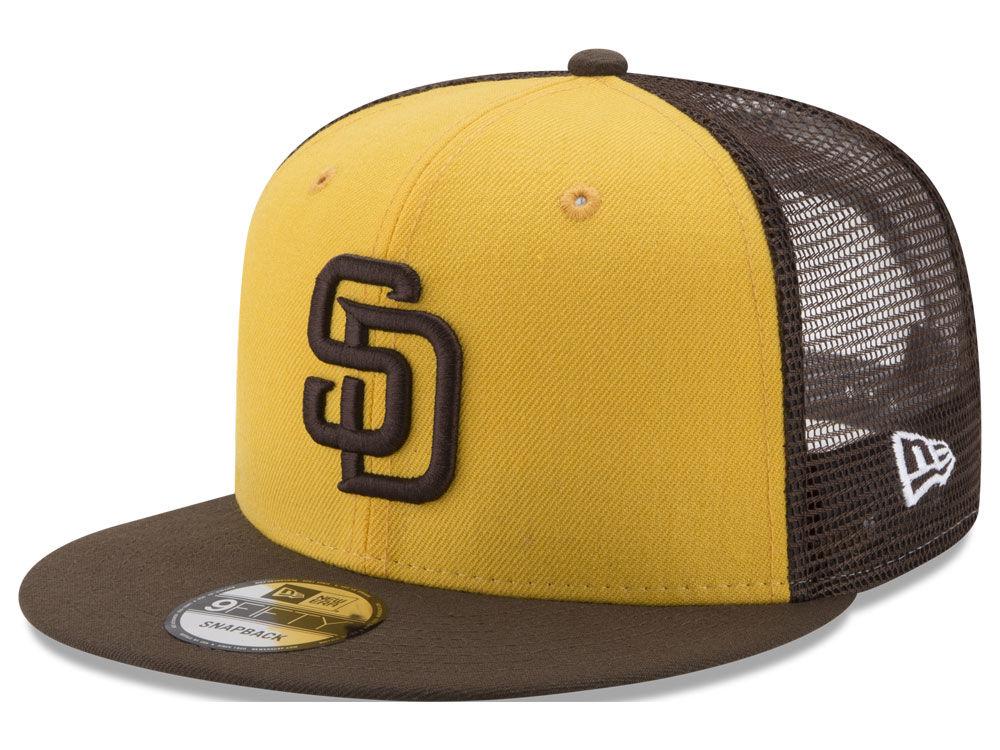 San Diego Padres New Era MLB On Field Mesh 9FIFTY Snapback Cap ... b827dcbe6e03