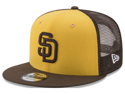 San Diego Padres New Era MLB On Field Mesh 9FIFTY Snapback Cap