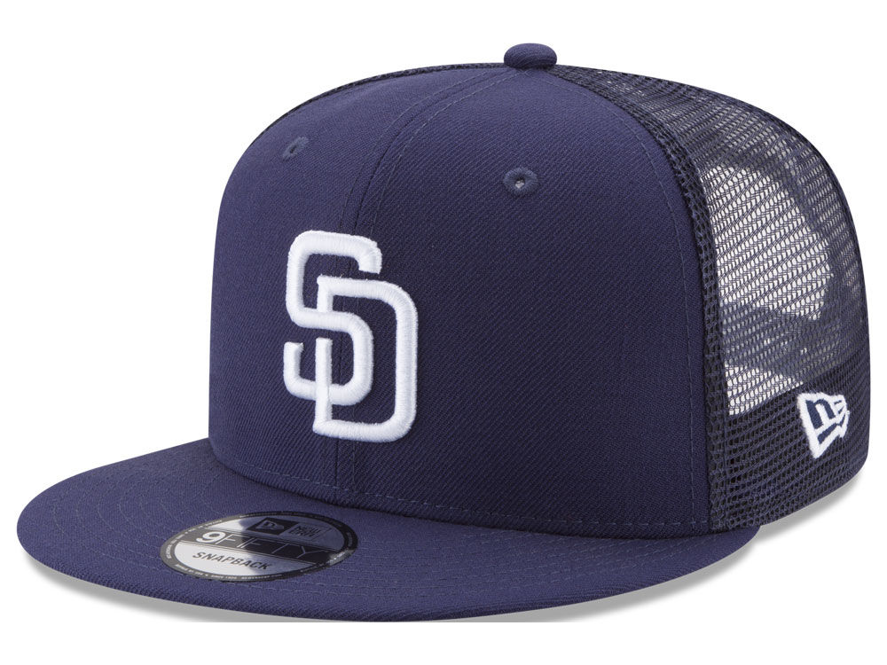 San Diego Padres New Era MLB On Field Mesh 9FIFTY Snapback Cap ... 1ba82073db8