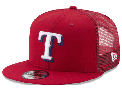 Texas Rangers New Era MLB On Field Mesh 9FIFTY Snapback Cap