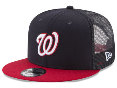 Washington Nationals New Era MLB On Field Mesh 9FIFTY Snapback Cap