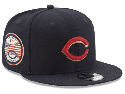 Cincinnati Reds New Era MLB Full Americana Patch 9FIFTY Snapback Cap