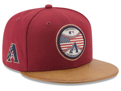 Arizona Diamondbacks New Era MLB Leather Americana 59FIFTY Cap