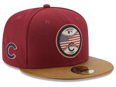 Chicago Cubs New Era MLB Leather Americana 59FIFTY Cap